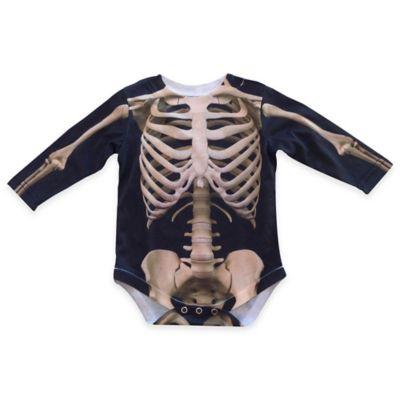 Faux Real Size 12M Photorealistic Skeleton Long Sleeve Bodysuit