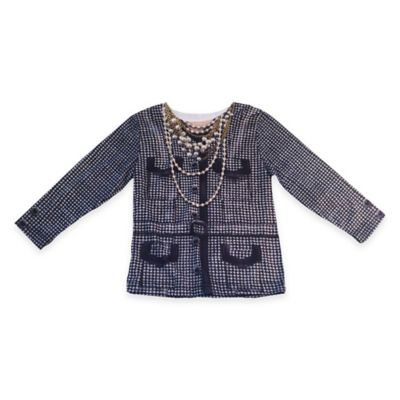 Faux Real Size 3T Photorealistic Houndstooth Jacket Long Sleeve T-Shirt
