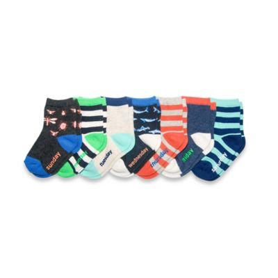 OshKosh B'gosh® Size 12-24M 7-Pack Bugs Days of the Week Socks