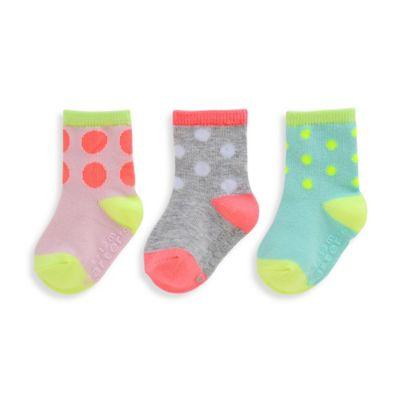 carter's® Size 2T-4T 3-Pack Large Polka Dot Computer Socks