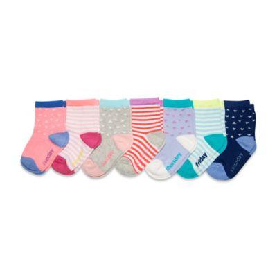 OshKosh B'gosh® Size 2T-4T 7-Pack Hearts and Stripes Day of the Week Socks