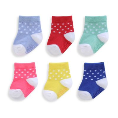 carter's® Size 2T-4T 6-Pack Polka Dot Computer Socks