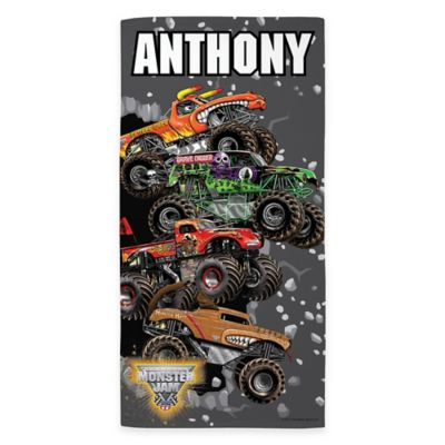 Monster Jam® Breakin' Through Beach Towel