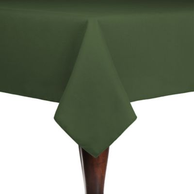 Spun Polyester Indoor/Outdoor 54-Inch x 54-Inch Square Tablecloth in Army Green