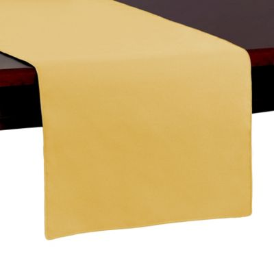 Spun Polyester 54-Inch Table Runner in Gold