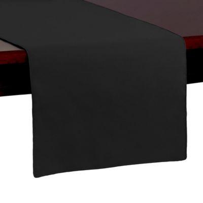 Spun Polyester 54-Inch Table Runner in Black