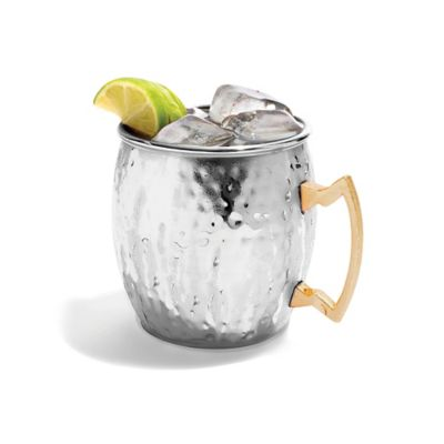Hammered Moscow Mule Mug in Stainless Steel