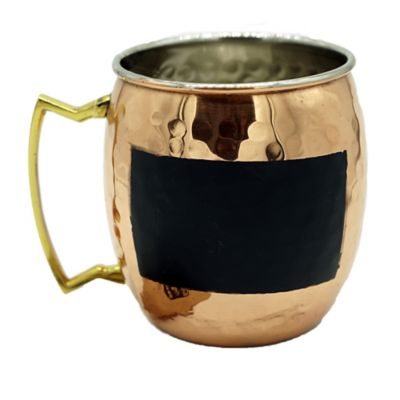 Moscow Mule Chalk Mug in Hammered Copper