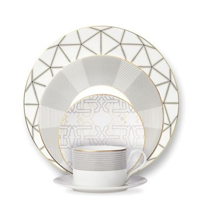 B by Brandie™ Telluride 5-Piece Place Setting in Black/Gold