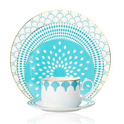 B by Brandie™ Fiji 5-Piece Place Setting in Turquoise/Gold