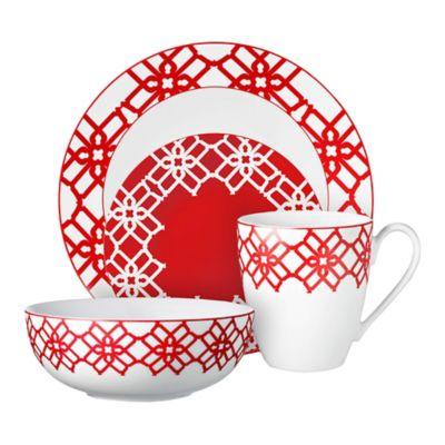 Red Dinnerware Fine China