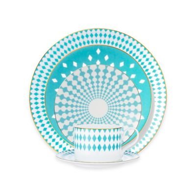 B by Brandie™ Sydney 5-Piece Place Setting in Turquoise/Gold