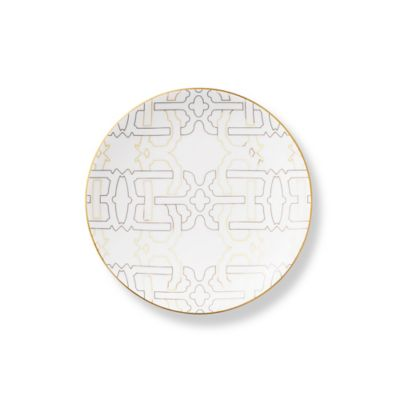 B by Brandie™ Grande Harrison Salad Plate in Black/Gold