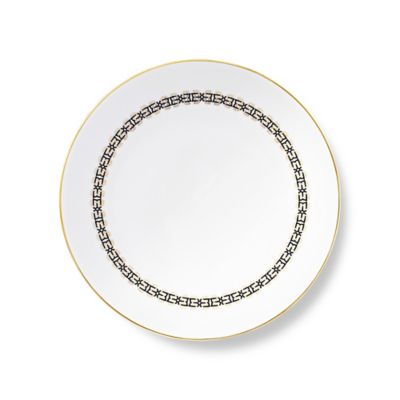 B by Brandie™ Grande Sibyl Dinner Plate in Black/Gold
