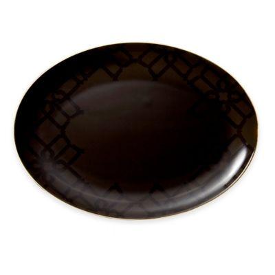 B by Brandie™ Grande Whitney Oval Platter in Black/Gold