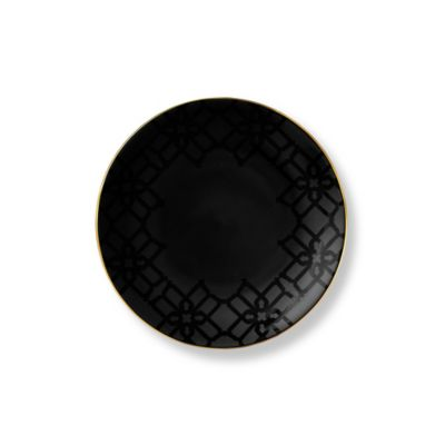 B by Brandie™ Grande Whitney Salad Plate in Black/Gold