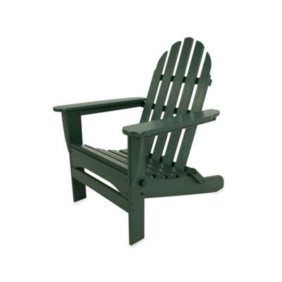 POLYWOOD® Folding Adirondack Chair in Green