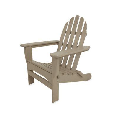 POLYWOOD® Folding Adirondack Chair in Sand