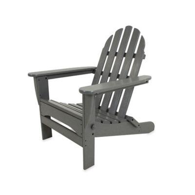 POLYWOOD® Folding Adirondack Chair in Slate Grey