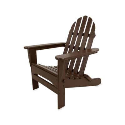 POLYWOOD® Folding Adirondack Chair in Mahogany