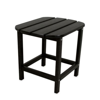POLYWOOD® Folding Adirondack Side Table in Black