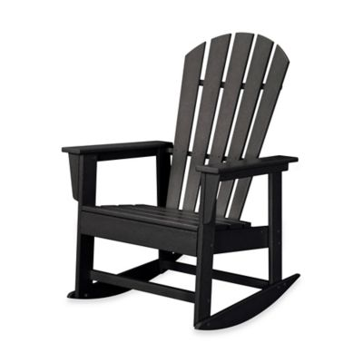 POLYWOOD® South Beach Rocker in Black