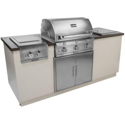 EZ Outdoor Kitchen in Silver