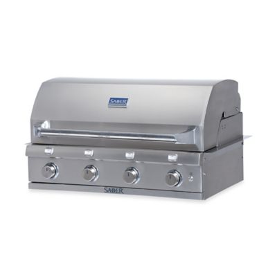 Saber® 500 NG 3-Burner Stainless Steel Built-in Gas Grill