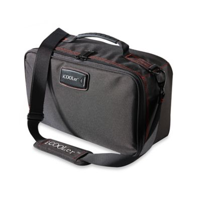 iCOOLer™ X-Large Freezable Lunch Bag and Beverage Cooler in Black