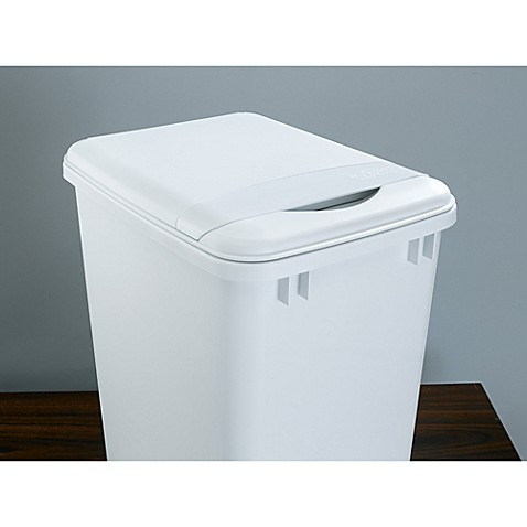 rev a shelf waste container lid in white. Black Bedroom Furniture Sets. Home Design Ideas