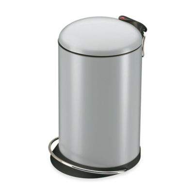 Hailo™ Trento TopDesign Round 16-Liter Step Trash Can in Silver