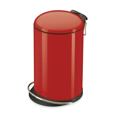 Hailo™ Trento TopDesign Round 16-Liter Step Trash Can in Red
