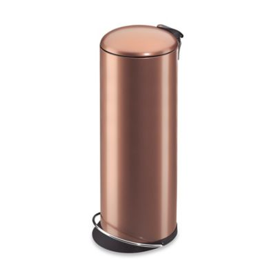 Hailo™ Trento TopDesign Round 26-Liter Step Trash Can in Copper