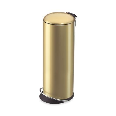 Hailo™ Trento TopDesign Round 26-Liter Step Trash Can in Gold