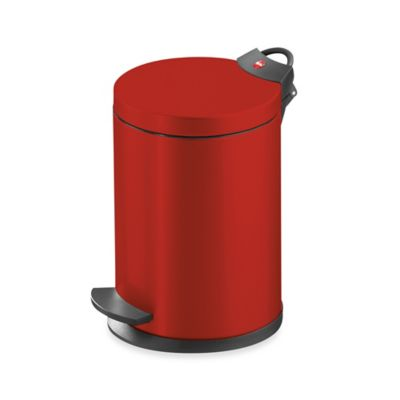 Hailo™ Round 4-Liter Step Trash Can in Red