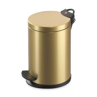 Hailo™ Round 4-Liter Step Trash Can in Gold
