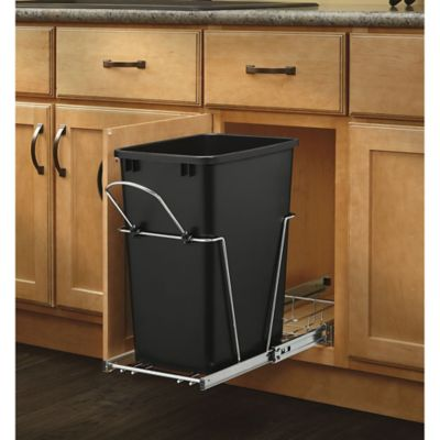 Rev-A-Shelf 35 qt. Pullout Waste Container in Black