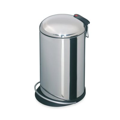 Hailo™ Trento TopDesign Stainless Steel Round 16-Liter Step Trash Can