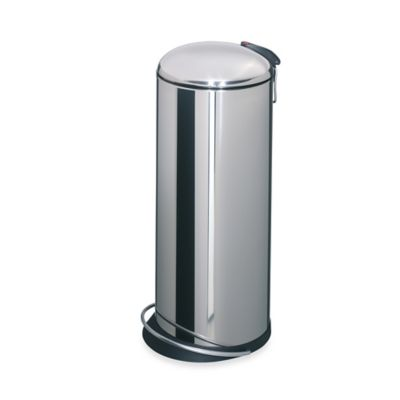 Hailo™ Trento TopDesign Stainless Steel Round 26-Liter Step Trash Can
