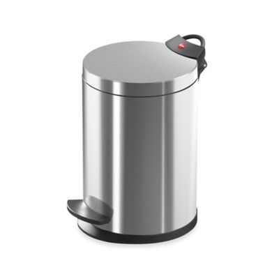Hailo™ Stainless Steel Round 4-Liter Step Trash Can