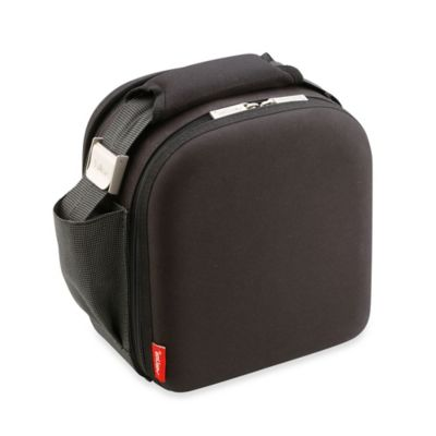 Nomad Satin 3-Piece Insulated Lunch Bag with Airtight Containers in Black