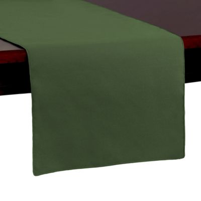 Spun Polyester 54-Inch Table Runner in Army Green