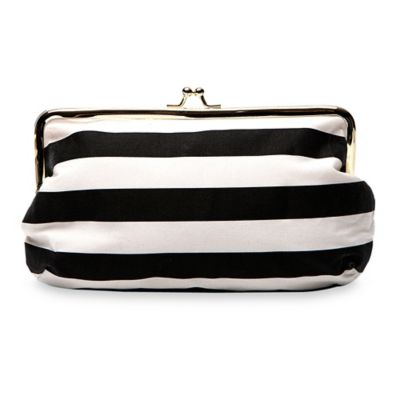 Wedding Day Emergency Kit Clutch in Black Stripe
