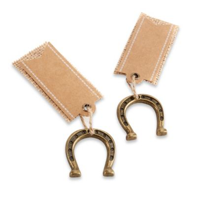 Kate Aspen® 6-Count Horse Shoe Place Card Holders in Bronze