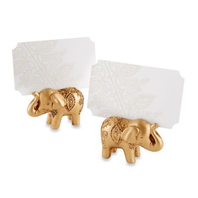 Kate Aspen® Lucky Golden Elephant Place Card Holders (Set of 6)