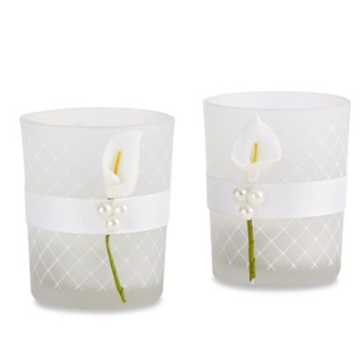 Kate Aspen® Lovely Lily Calla Lily Tealight Holders (Set of 4)