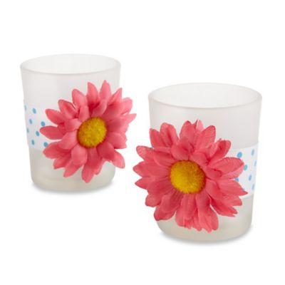 Kate Aspen® Daisy Delight Gerbera Daisy Tealight Holders (Set of 4)