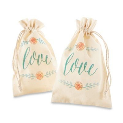 Kate Aspen® In Bloom Botanical Muslin Favor Bags (Set of 12)
