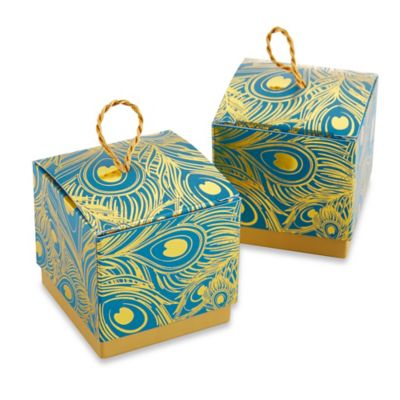 Kate Aspen® Feathers Foil Favor Boxes (Set of 24)