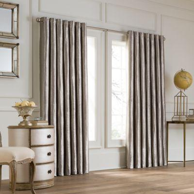 Valeron Lustre Grommet Top 108-Inch Wide x 95-Inch Long Window Curtain Panel in Nickel